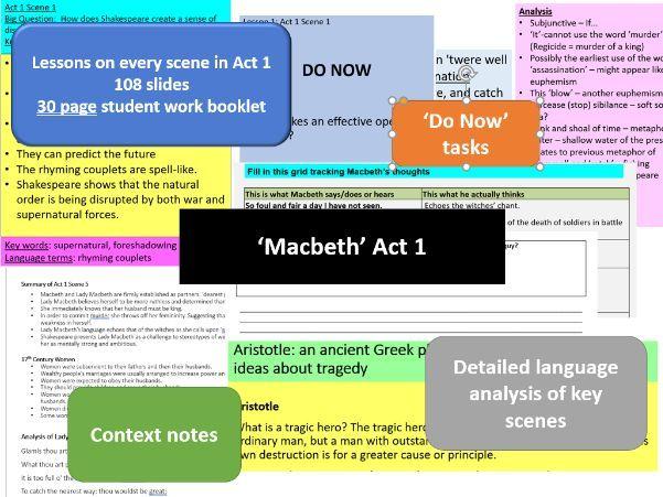 GCSE English Literature: Macbeth : every scene in Act 1