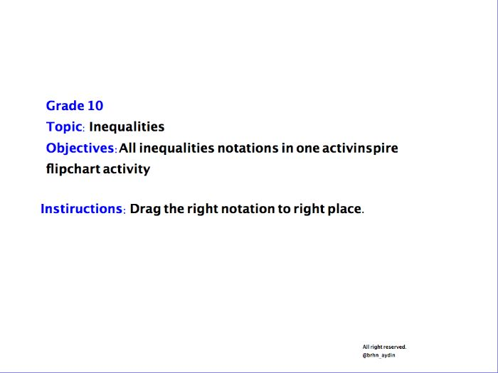 Inequalities-Interval Notations