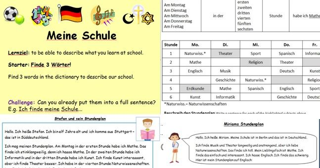 School subjects and timetables - All you need!