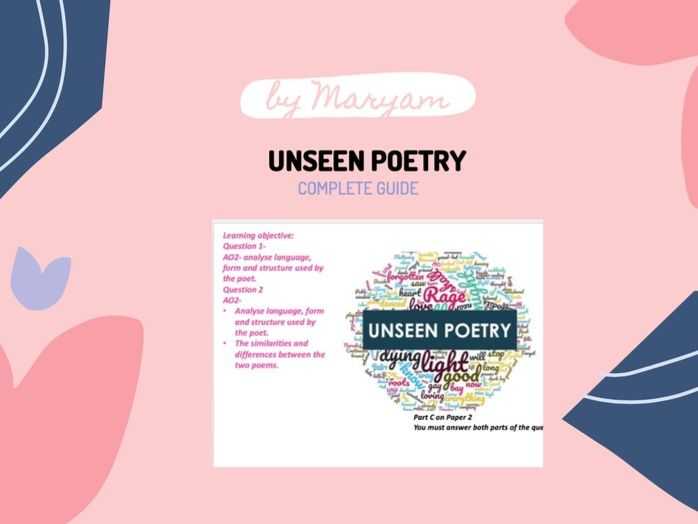 Unseen Poetry AQA English literature 9-1 Guide
