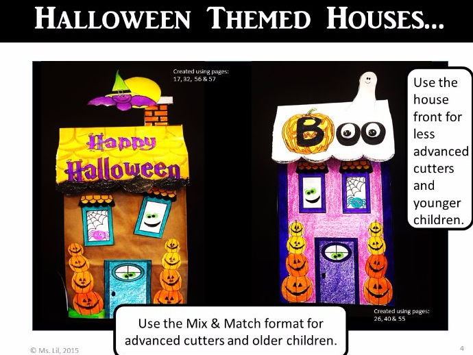 Haunted House Crafts ::  Halloween Activity ::  Paper Bag Crafts