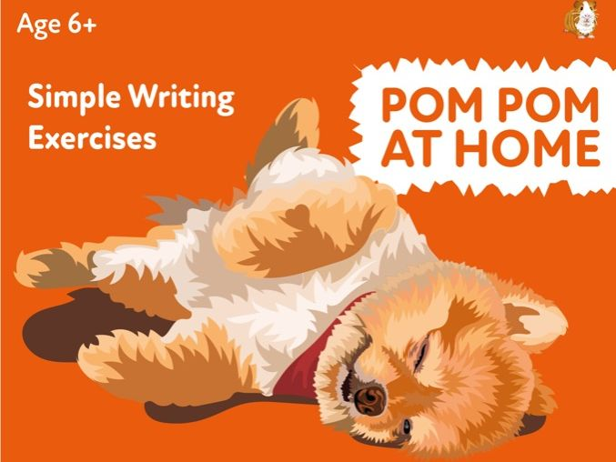 'Pom Pom At Home' A Fun Writing And Drawing Activity (4 years +)