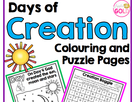 Days of Creation Colouring and Puzzle Pages