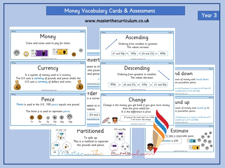 Year 3- Money Vocabulary Cards
