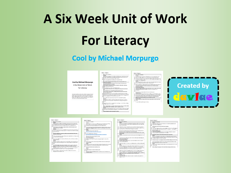 A Six Week Unit of Work for Literacy - Cool by Michael Morpurgo