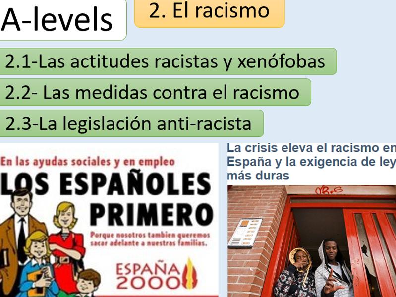 """""""El racismo"""" New AQA A Level"""