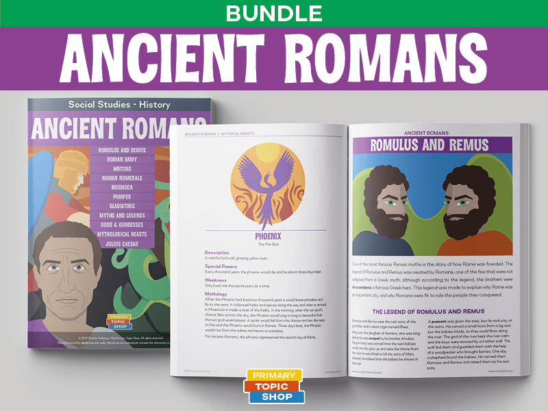 Ancient Romans - Handout, Worksheet and Activity Bundle