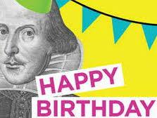SHAKESPEARE'S BIRTHDAY- Write a Sonnet- KS3 or KS4