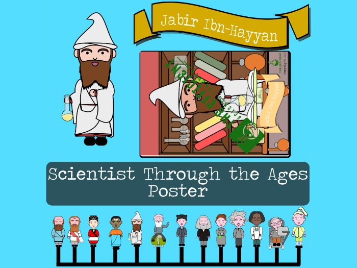 Jabir Ibn-Hayyan - Scientists Throughout The Ages A3 Poster File