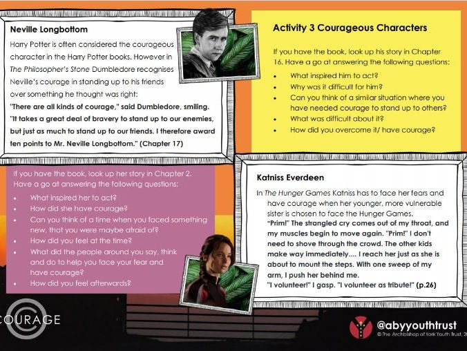 KS3 Courageous Characters