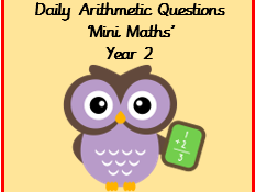 Daily arithmetic questions, Year 2 SATS style. Autumn