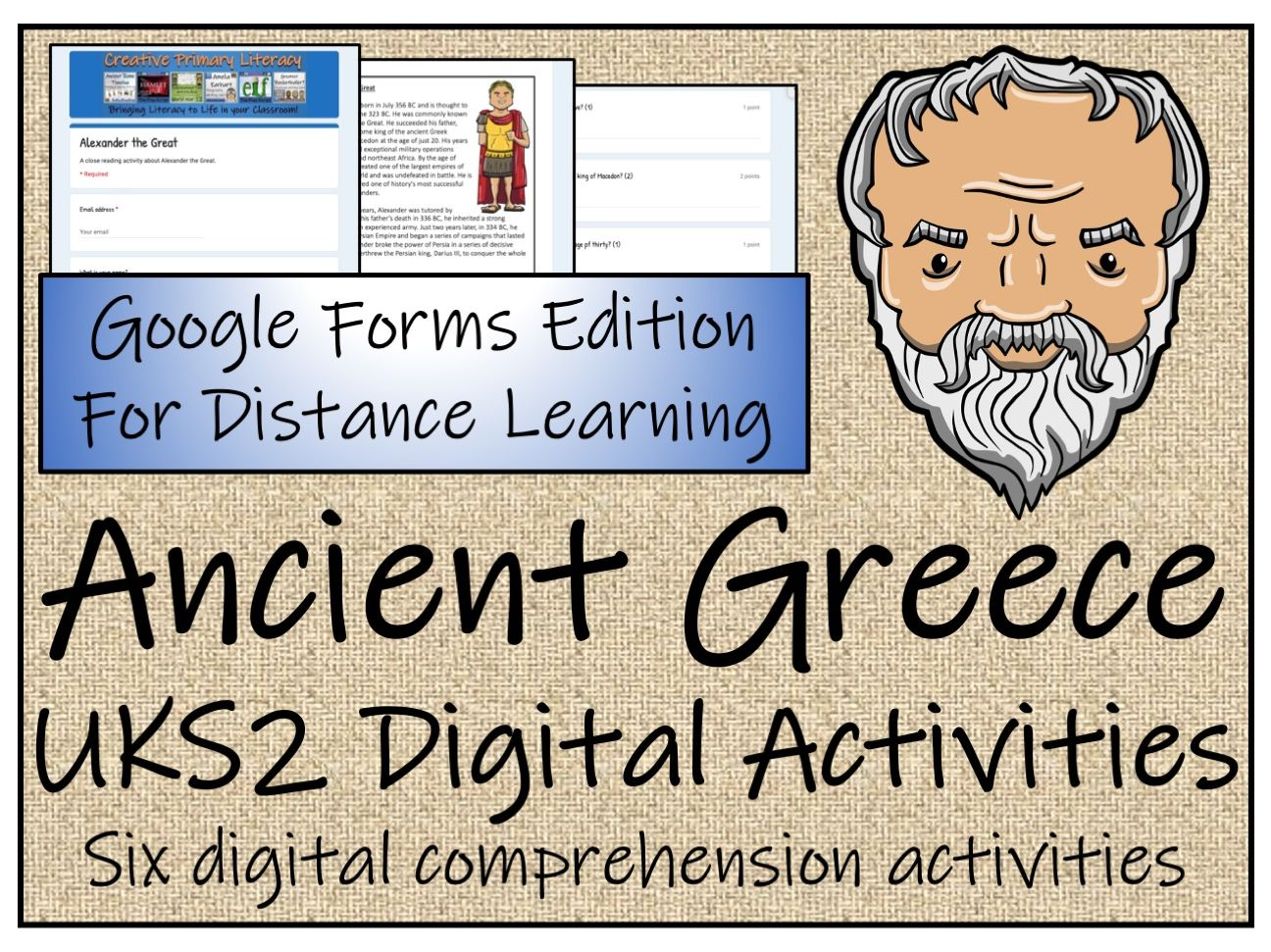 UKS2 Ancient Greece Reading Comprehension & Distance Learning Bundle