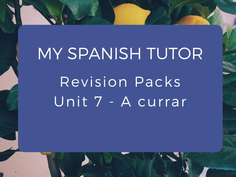 GCSE Revision Pack - Unit 7 A Currar
