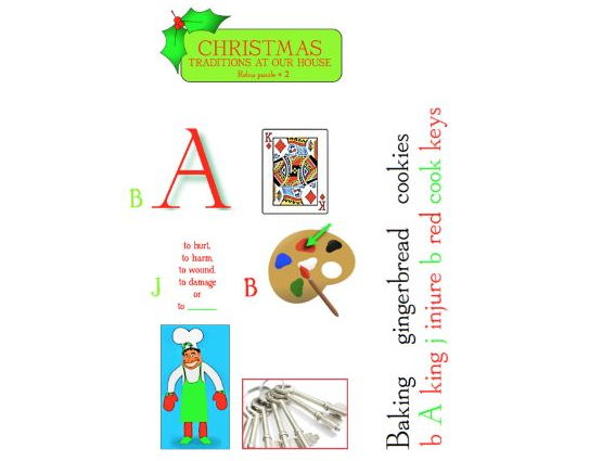 Twelve Christmas Rebus Puzzles