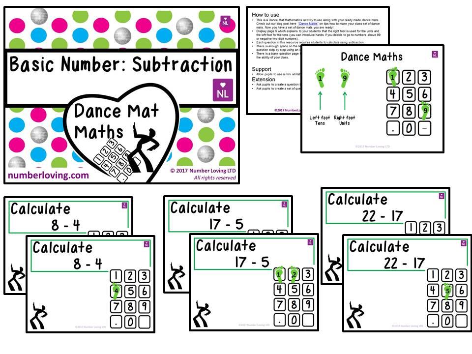 Basic Subtraction (Dance Mat)