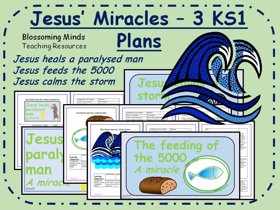 3 lesson RE unit -Jesus' Miracles - KS1
