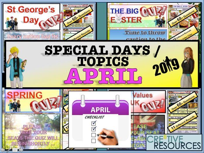 Tutor time activities - April