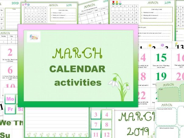 March Calendar with Activities
