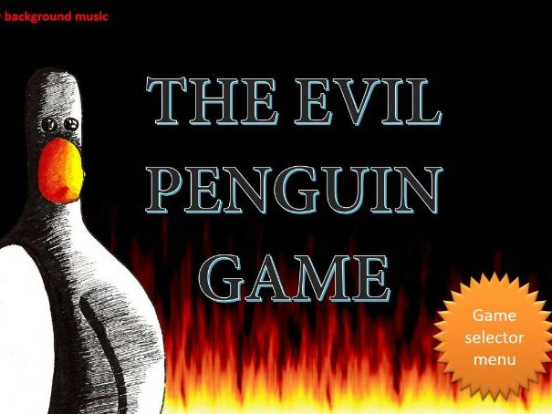 Evil Penguin Fun Plenary Game