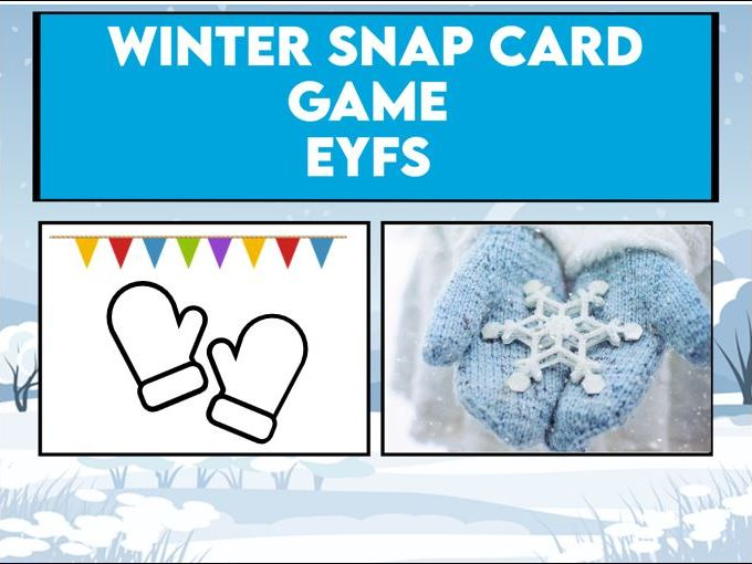 Winter Snap Card Game EYFS / KS1