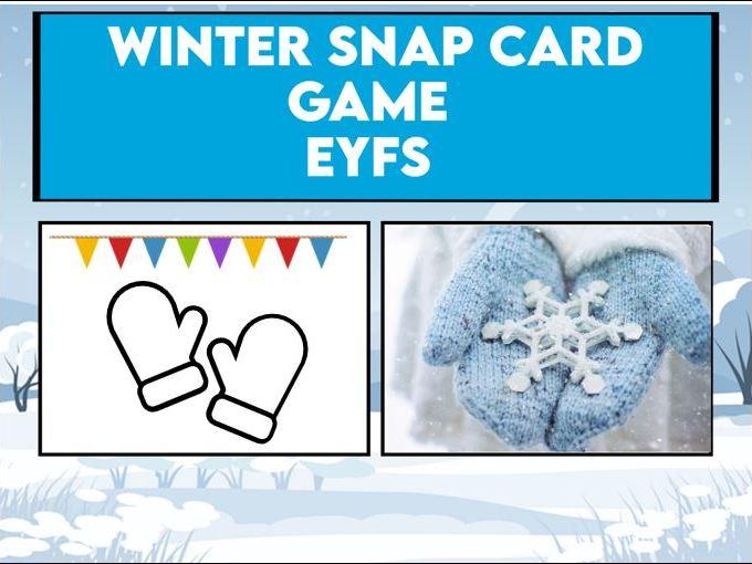 Winter Snap Card Game EYFS / KS1