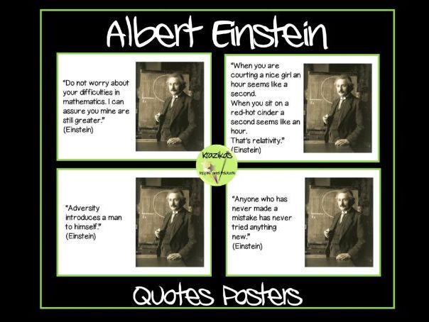 Albert Einstein Quotes Posters