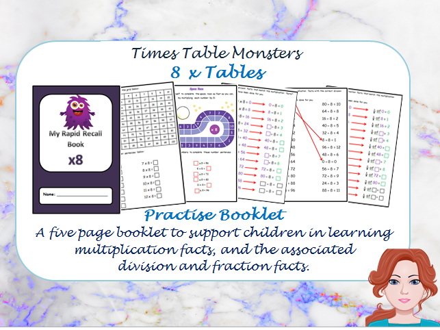 8 x Tables Practise Booklet