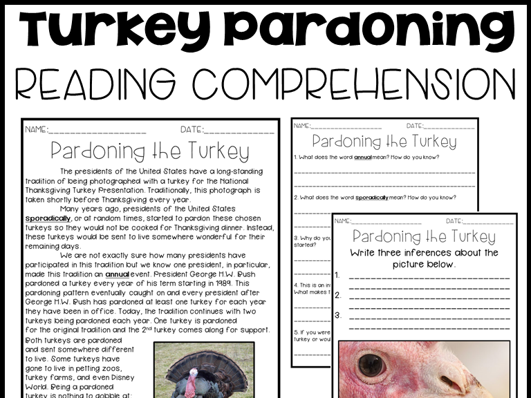 Leveled Text V: Pardoning of the Turkey