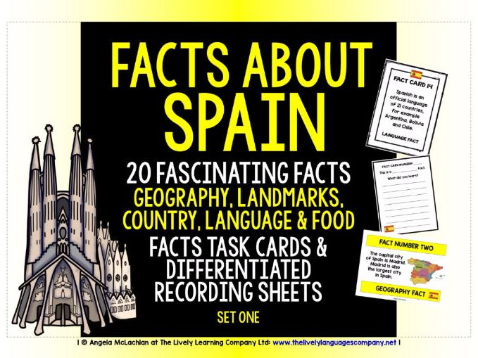 PRIMARY SPANISH - 20 FACTS TASK CARDS, RECORDING SHEETS, DISCUSSION ACTIVITY (1)