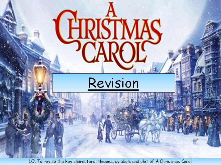 A Christmas Carol Revision-Characters, Plot, Themes, Context