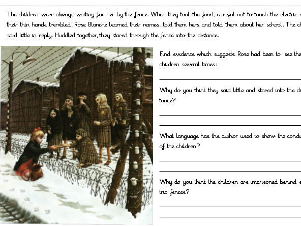 Rose Blanche Guided Reading