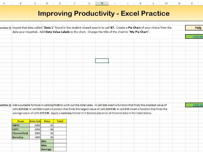 ECDL Improving Productivity Revision