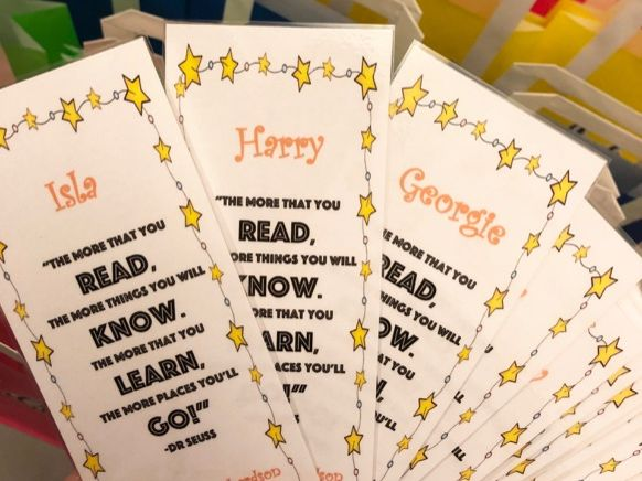 Personalised Dr Seuss Bookmarks