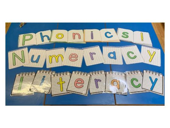 Literacy, Phonics and Numeracy Title Display