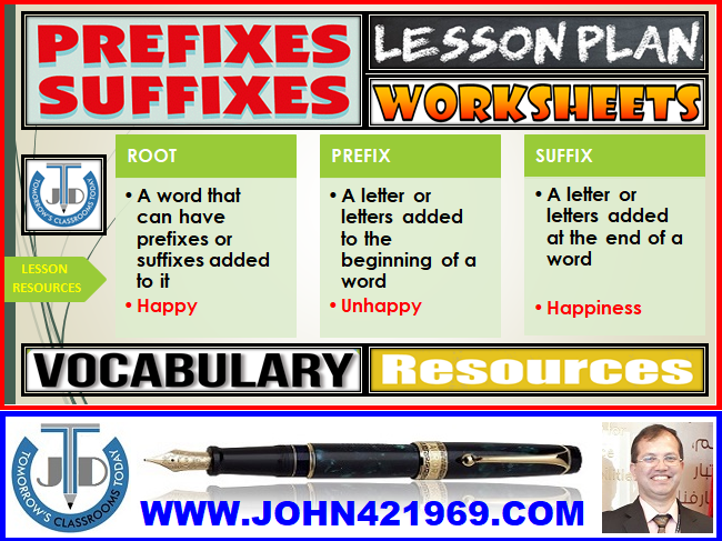 PREFIXES AND SUFFIXES: UNIT LESSON PLAN AND RESOURCES