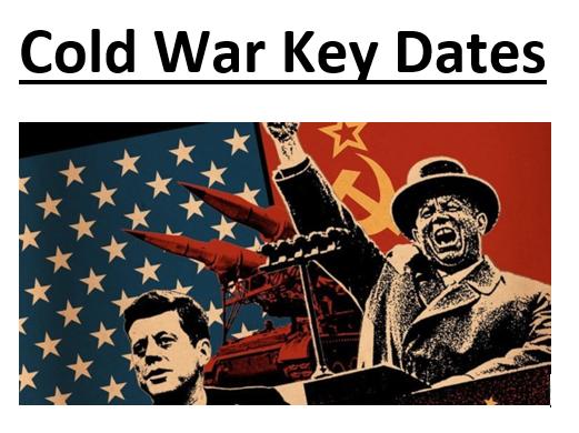 GCSE Cold War Key Dates Timeline