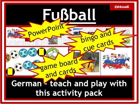 German: Soccer / Football Activity Pack - World Cup