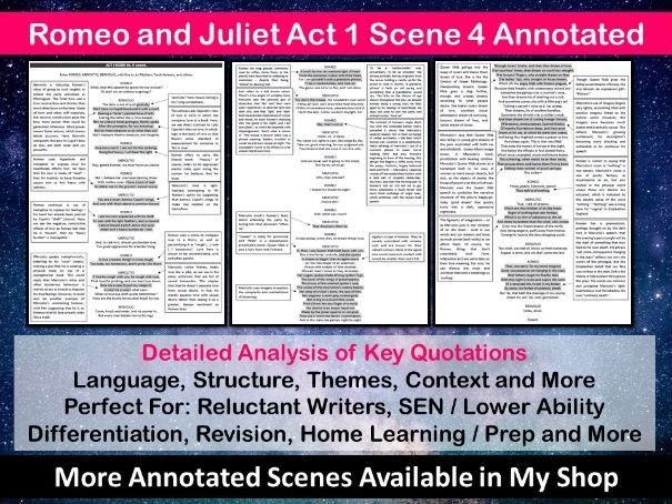 Romeo and Juliet Act 1 Scene 4 Annotated