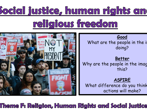 AQA A GCSE Theme F Human Rights and Social Justice: Lesson 1 Human Rights and Religious Freedom