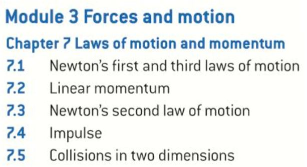 OCR AS level Physics: Laws of Motion