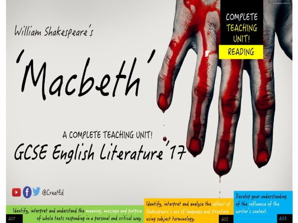 a description of macbeth of literature examination Examples of diction in literature example #1 macbeth: is this a dagger which i see before me, the handle toward my hand come, let me clutch thee.