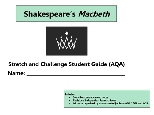 GCSE 9-1 Macbeth AQA Scheme of Work / Learning