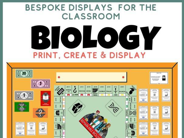 Biology Display Revision Wall