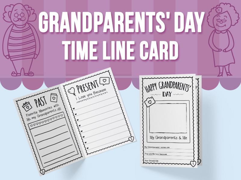 Grandparents' Day - Time Line Card