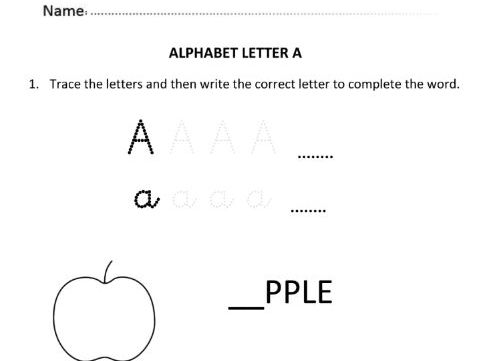 Learning and Writing Letter A for Year 1 Students