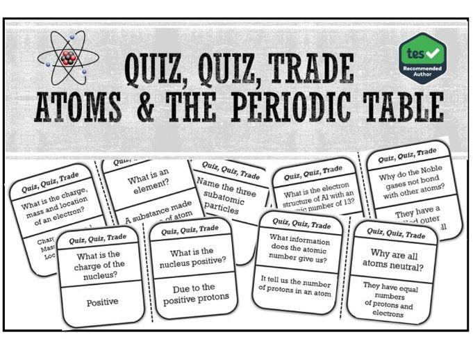Atoms & the Periodic Table: Ages 14-16 Quiz, Quiz, Trade