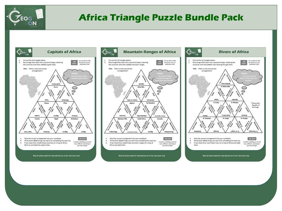 Africa Triangle Puzzle Bundle Pack