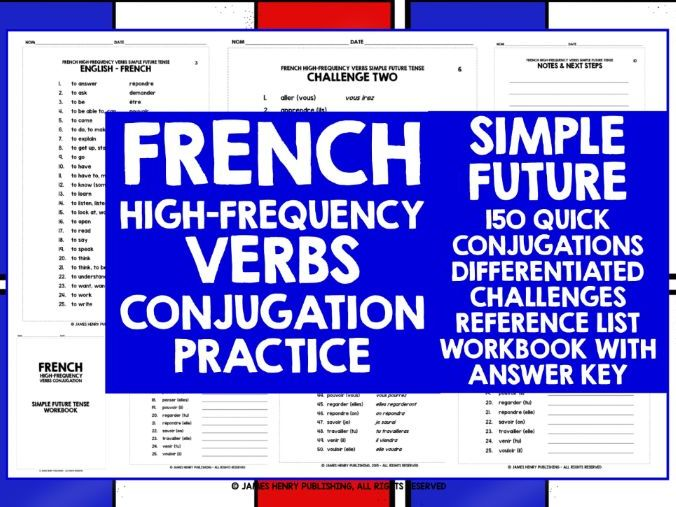 FRENCH HIGH-FREQUENCY VERBS CONJUGATION 5