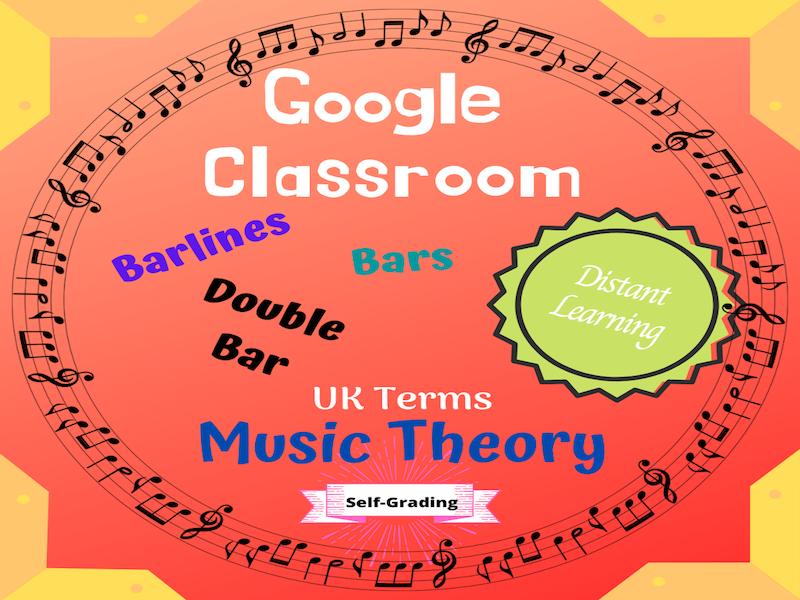 UK Music Terms GOOGLE CLASSROOM: Bars, Barlines, Double Barlines