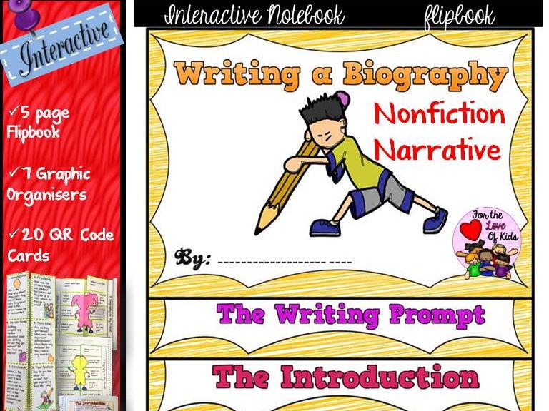 WRITING A BIOGRAPHY: INTERACTIVE NOTEBOOK FLIPBOOK